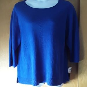 Deep Pacific Pull Over Sweater Waist Lenght Siz 2X